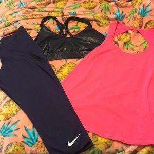Nike, American Eagle, and Joy Lab workout set